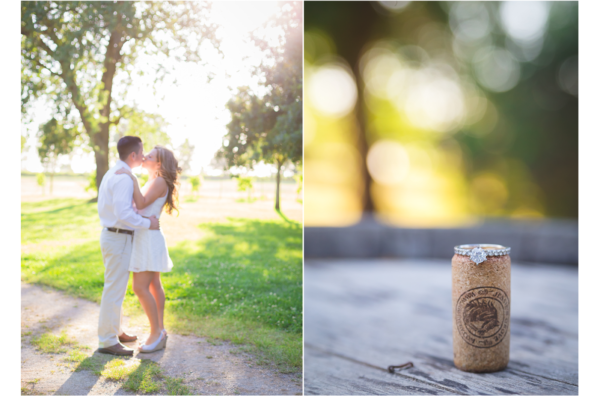 Lodi engagement winery ring collage