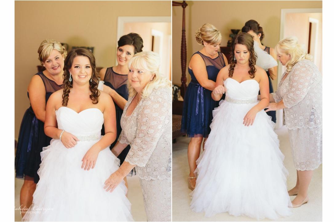 Oakdale Wedding Tanner dress details bride gettin ready