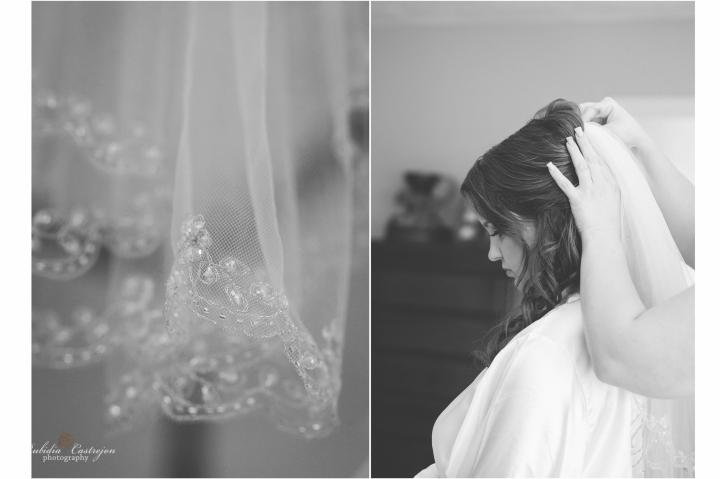 Oakdale Wedding Tanner dress details veil