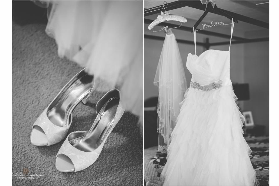 Oakdale Wedding Tanner dress details