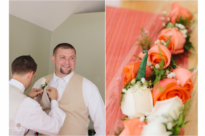 Oakdale Wedding Tanner groom details bouquet