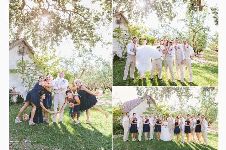 Robinson Family Ranch Wedding- Rubidia Castrejon Photography-Oakdale wedding party